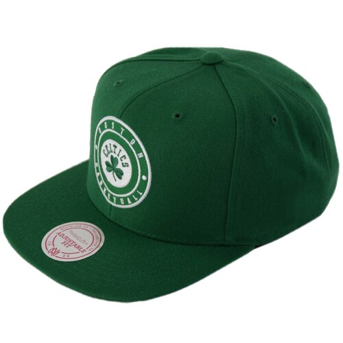 Mitchell & Ness Snapback Circle Patch Boston Celtics green