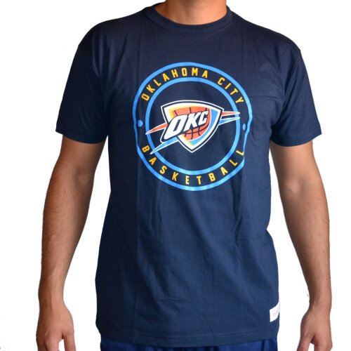Mitchell & Ness Shirt Oaklahoma City Thunders Circle Patch navy