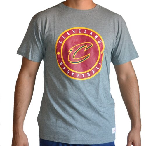 Mitchell & Ness Shirt Cleveland Cavaliers Circle Patch grey