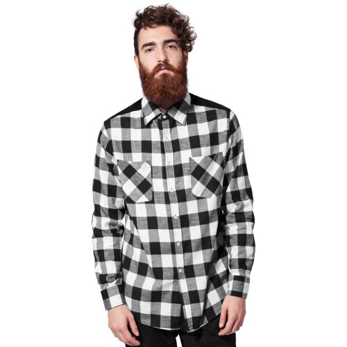 Urban Classic Checked Flanell Hemd black/white