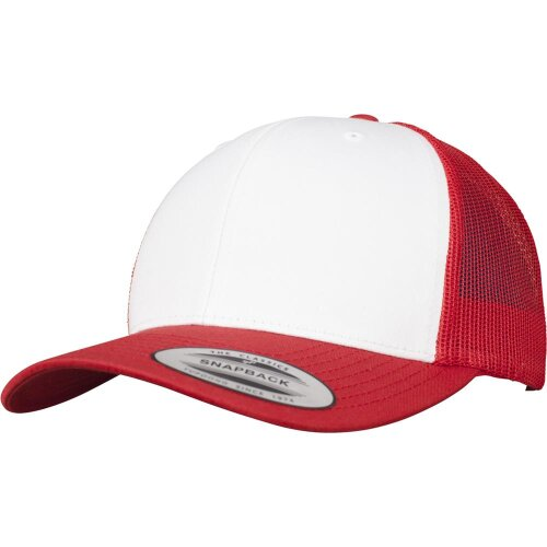 Yupoong Retro Trucker Snapback Cap red/white/red