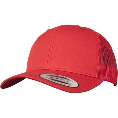 Yupoong Retro Trucker Snapback Cap red