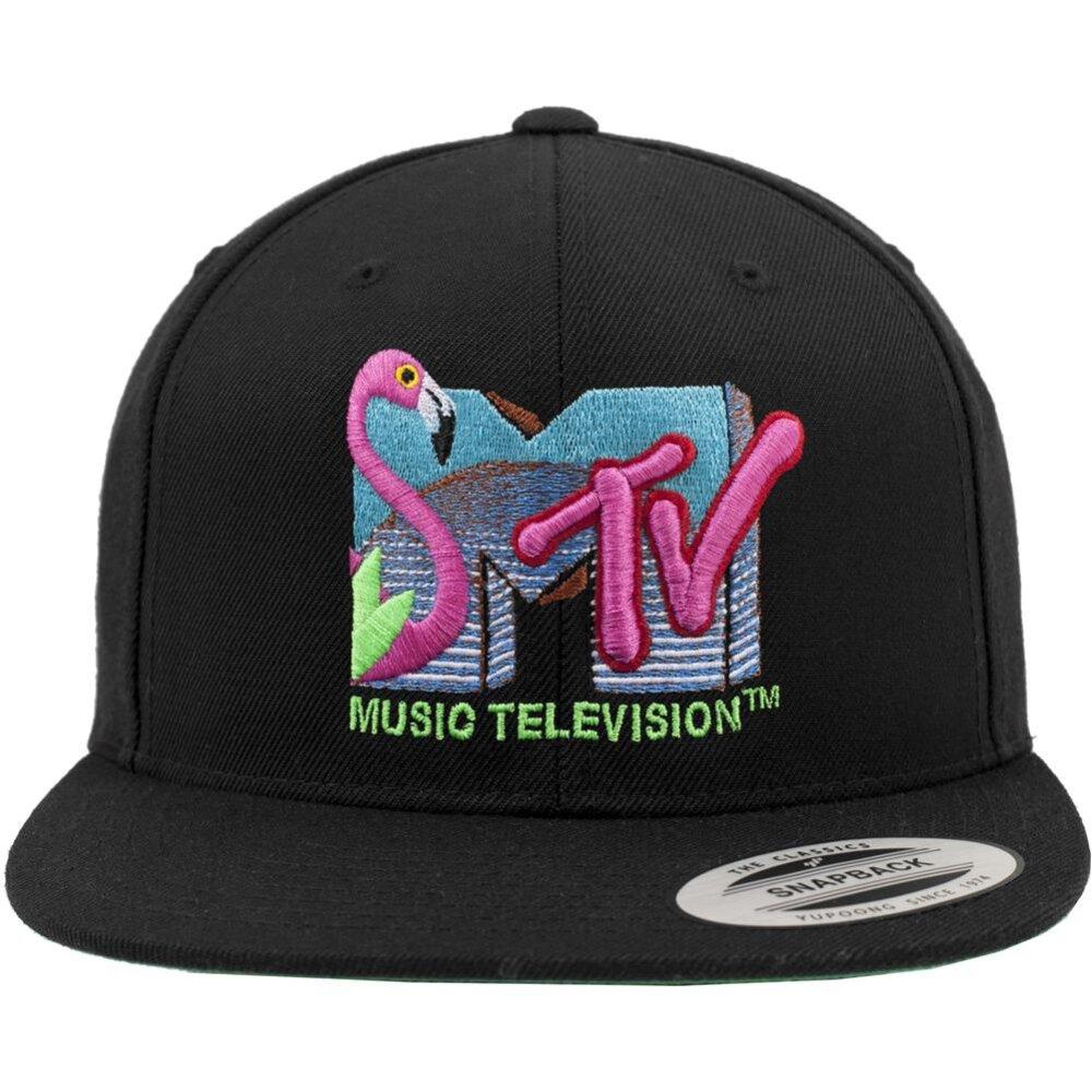 152528d3d45 Yupoong Snapback Cap MTV Flamingo black